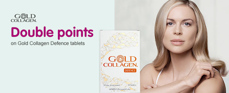 Double points when you buy Gold Collagen Defence
