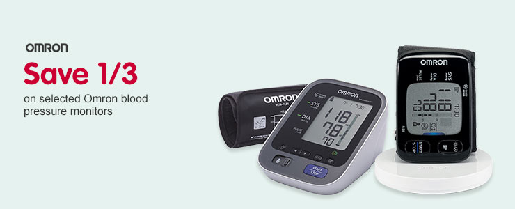 Save 1/3 on selected Omron Blood Pressure Monitors