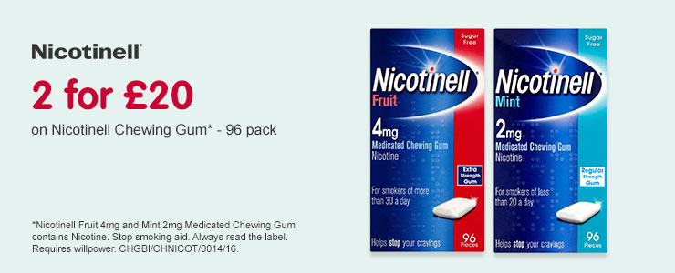 2 for £20 on selected Nicotinell  Using patches and lozenges together can help manage nicotine cravings and increase your chances of quitting