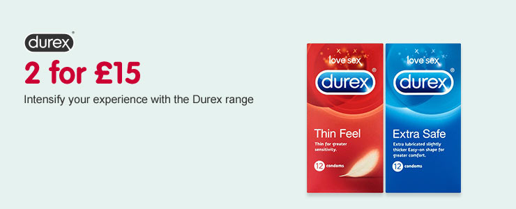 2 for 15 pounds on selected Durex