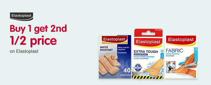 Buy one get the second half price on selected Elastoplast