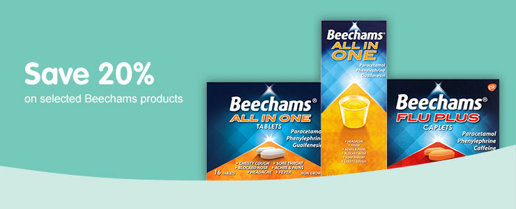 Save 20% on selected Beechams cold & flu products
