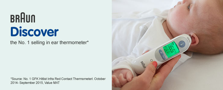 Braun Number 1 in ear thermometer