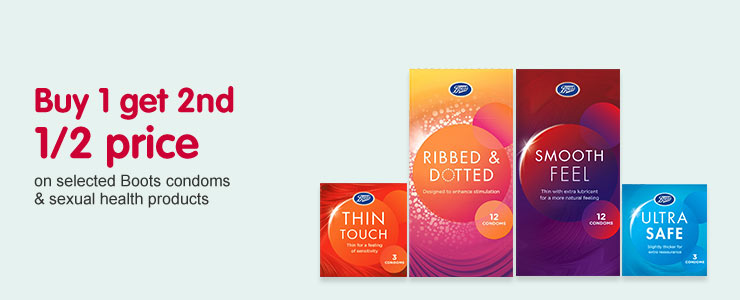 BOGSHP on selected Boots condoms & sexual health products