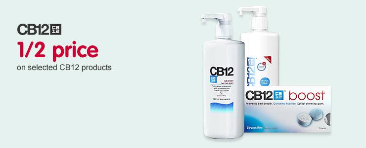 1/2 price on selected CB12 products