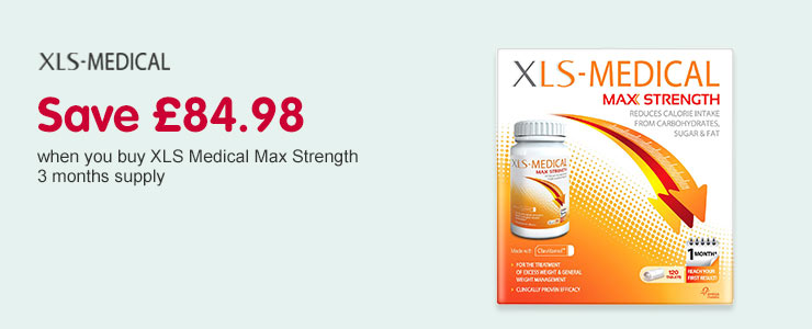 Save £84.98 on XLS Medical Max Strength 3 months supply