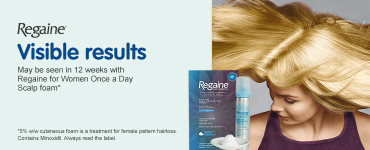 Visible results with Regaine for Women Once a Day Scalp foam
