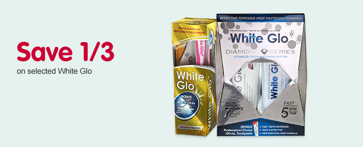 Save 1/3 on selected White Glo