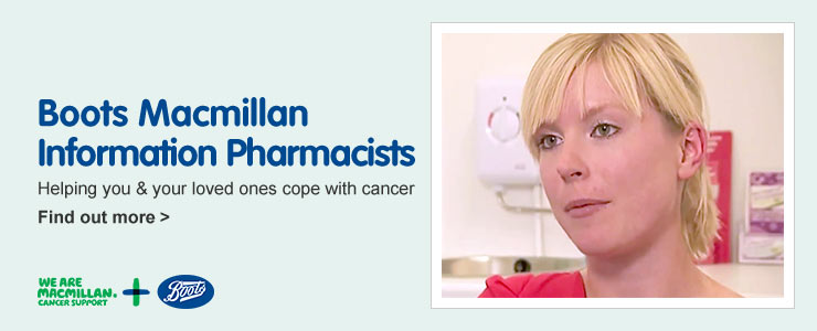 Boots macmillan information pharmacists. Helping you and your loved ones cope with cancer