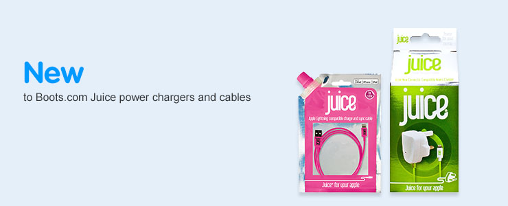 New to Boots- Juice power chargers and cables