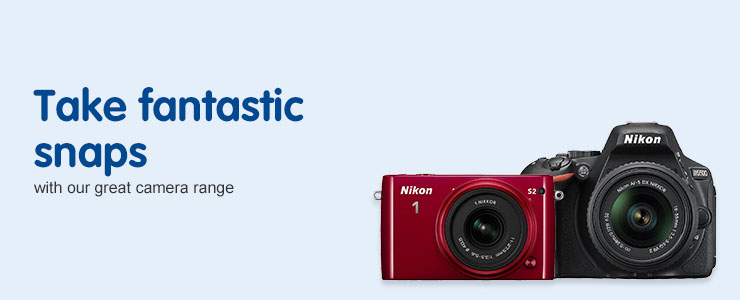 Take fantastic snaps with our great cameras range