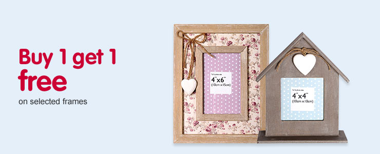 Buy 1 get 1 free on selected frames