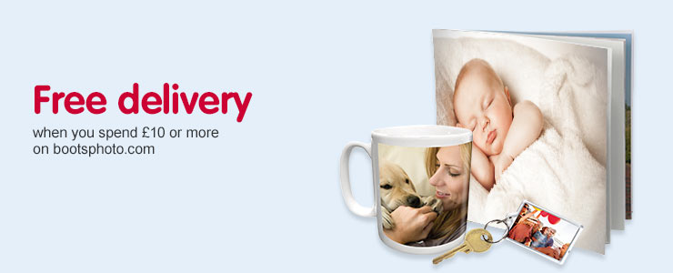 Free delivery when you spend £10 or more across Bootsphoto.com