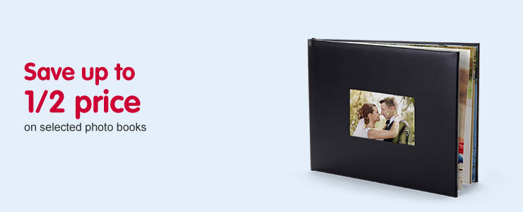 Save up to1/2 price on photo books
