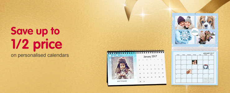 Save up to 1/2 price on calendars