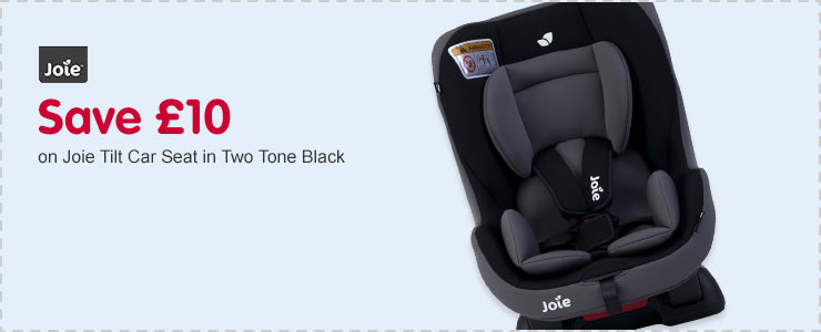 Save £10 on Joie Tilt Car Seat in Two Tone Black