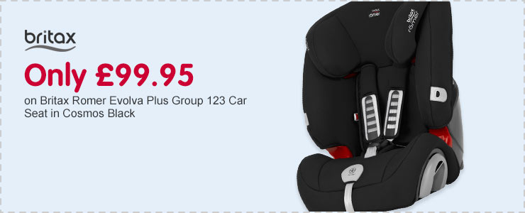 Only £99.95 on Britax Romer Evolva Plus Group 123 Car Seat in Cosmos Black