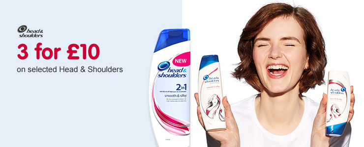 three for ten selected head and shoulders