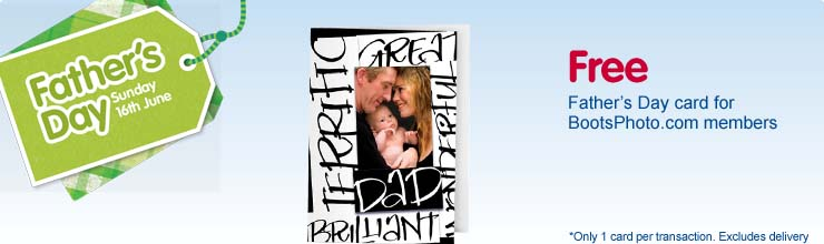 Free Fathers day card from BootsPhoto.com