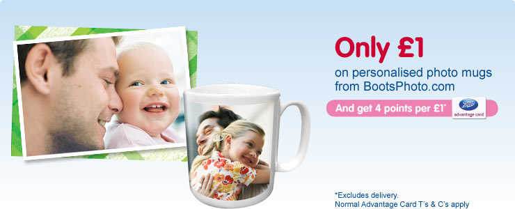 £1 personalised photo mug