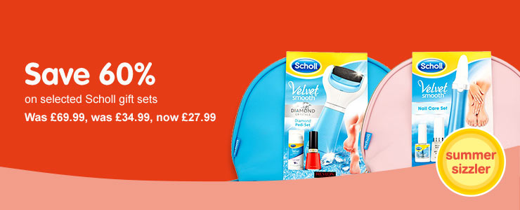 Better than 1/2 price on selected Scholl gift sets