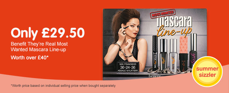 Only £29.50 on Benefit Most Wanted Mascara line up set