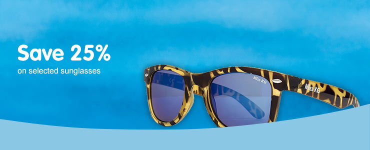 Save 25% on sunglasses