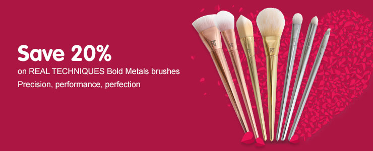 Save twenty percent on real techniques bold metals brushes