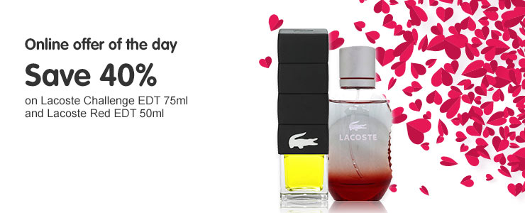 Online Offer - Lacoste save 40%