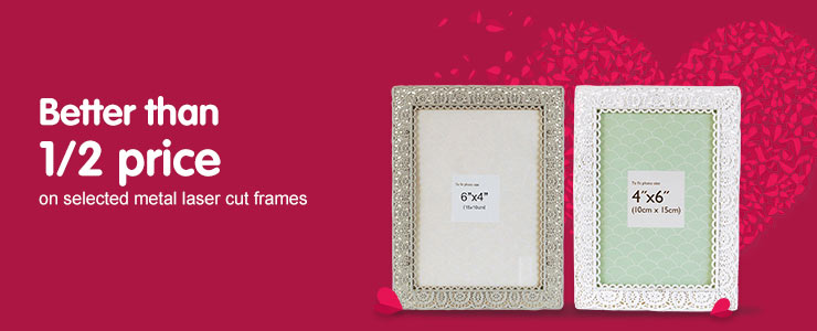 Better than half price on selected laser cut frames