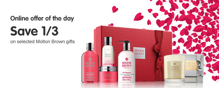 Valentines Daily Deal save 1/3rd on Molton Brown Gift Sets