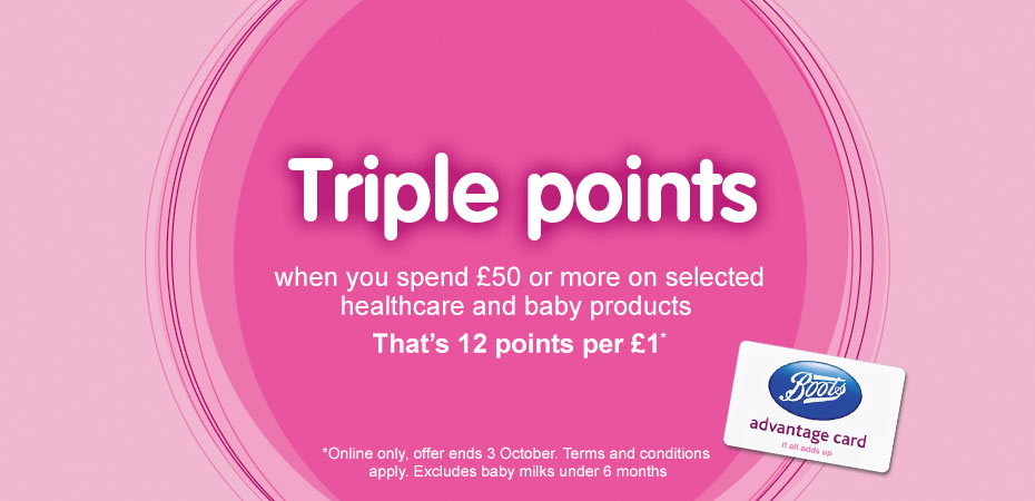Triple points baby and healthcare