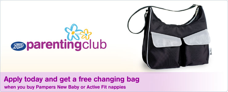Free changing bag worth £29.99