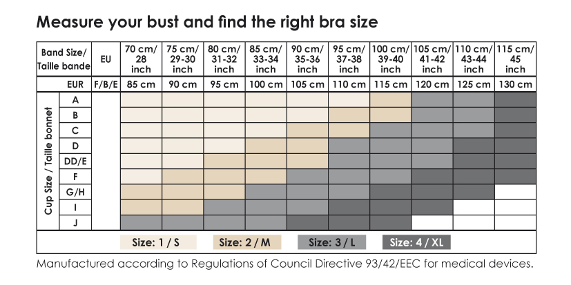 Cantaloop Bra Size Guide Chart