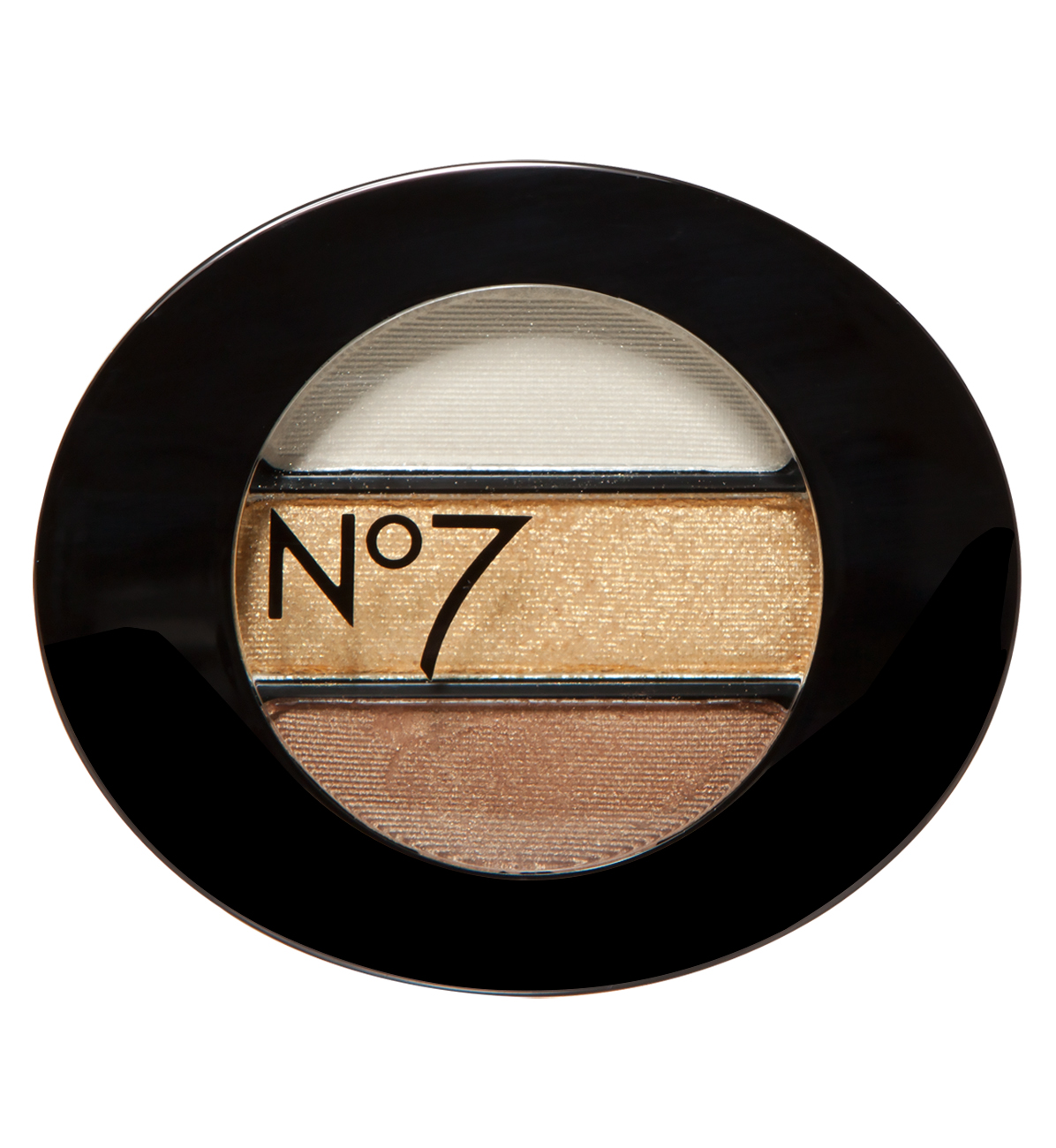 Trio of metallic gold eyeshadows from No7