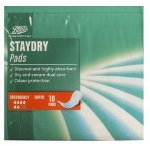 Boots Pharmaceuticals Staydry Super Pads (10 Pads)