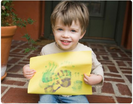 Do a handprint painting