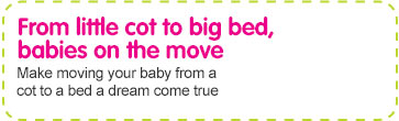 moving your child from a cot into a bed