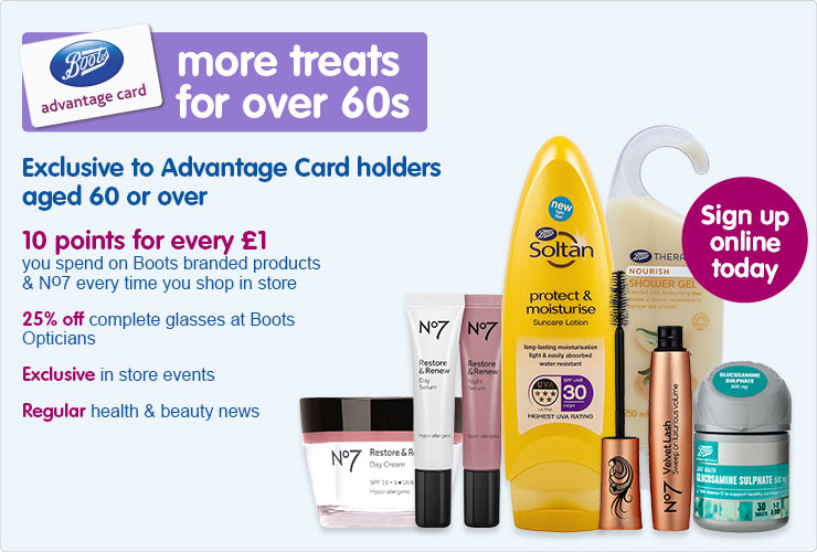 More treats for Over 60s