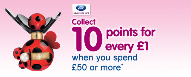 Collect 10 points for every £1 when you spend £50 or more