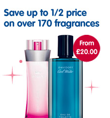 Save up to 1/2 price on over 170 fragrances