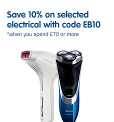 Save 10% when you spend £70 or more on selected electrical