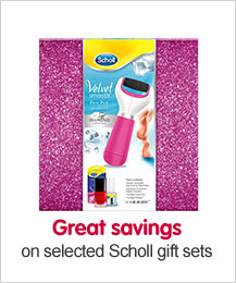 Great savings on selected Scholl gift sets