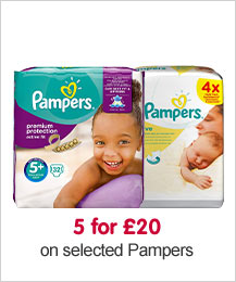 5 for £20 on selected Pampers