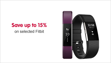 Save up to 15% on selected Fitbit