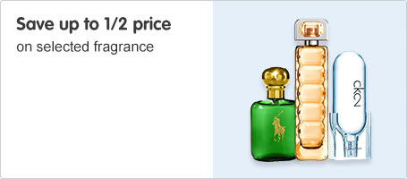 Save up to 1/2 price fragrance