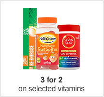 3 for 2 Vitamins & Supplements