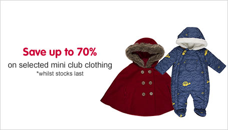 Save up to 70% on selected Mini Club clothing