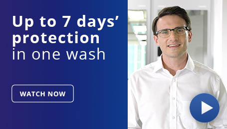 Up to 7 days protection in one wash - watch video now