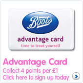Advantage card Collect 4 points per £1 Click here to sign up today